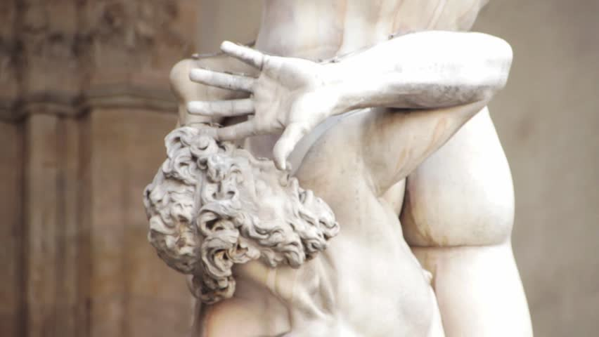Famous statue in Florence The Rape of the Sabine Women.