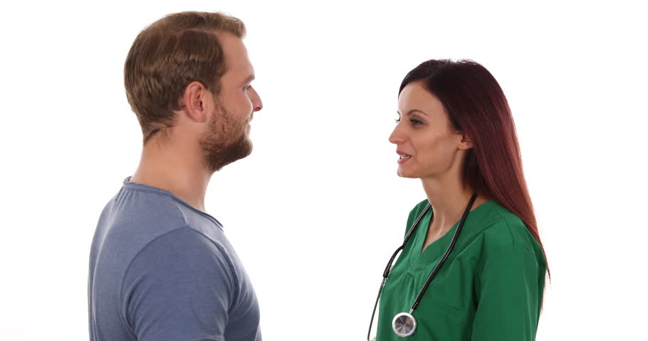 Friendly Medical Doctor Woman Talking Show Patient Medicament Hospital Concept | Shutterstock HD Video #25579679