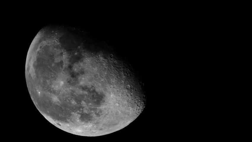 Close-up of the moon. - HD stock footage clip
