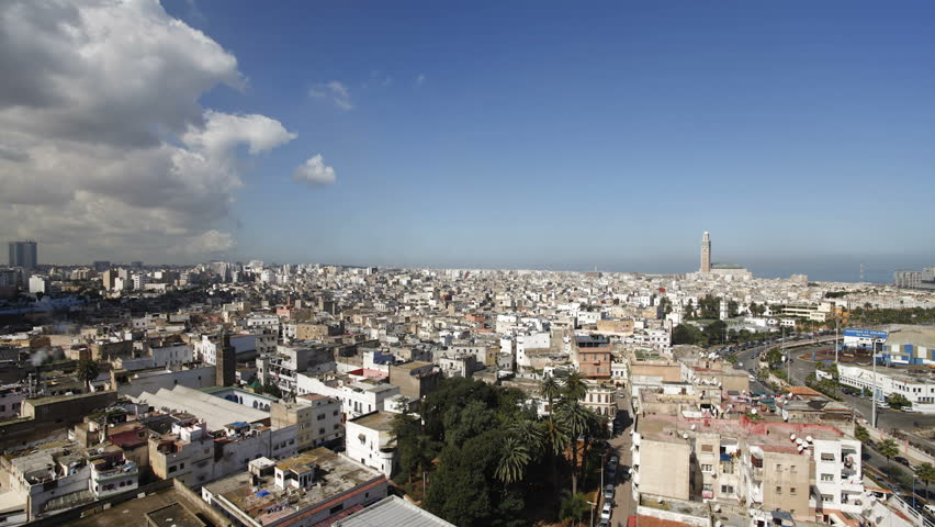 a view of Hassan II Mosque, the third largest mosque in the world, Casablanca