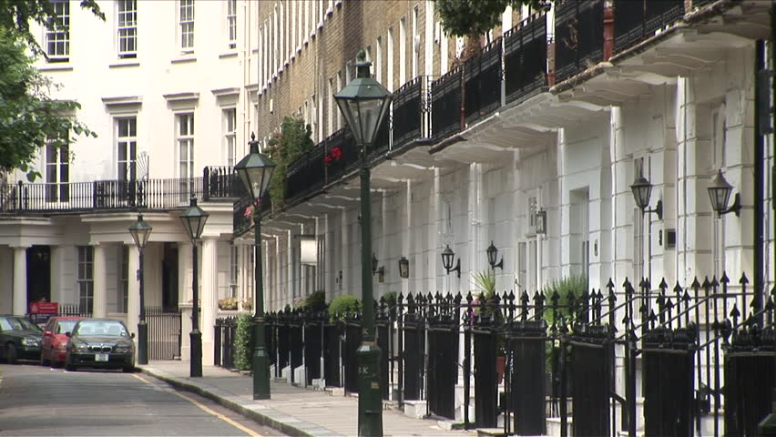 London, England - CIRCA June, 2006: Quiet street in the old part of the city as seen during the day