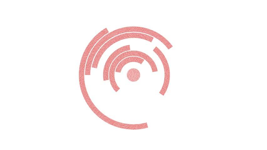 Rotating circular red color particles on white background.   Shutterstock HD Video #25677149
