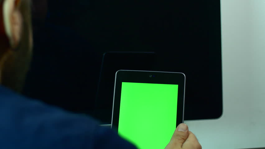 Man Having A Video Call Discussion, Face Time, Green Screen | Shutterstock HD Video #25729019