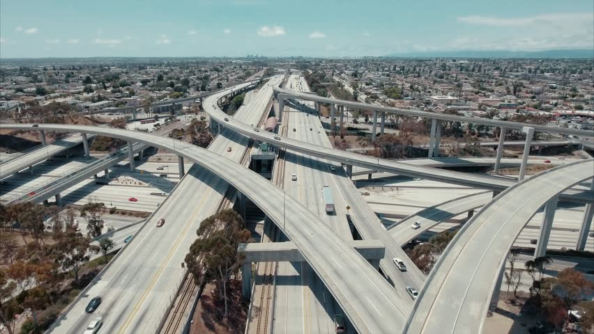 Above the highway in Los Angeles | Shutterstock HD Video #25758779