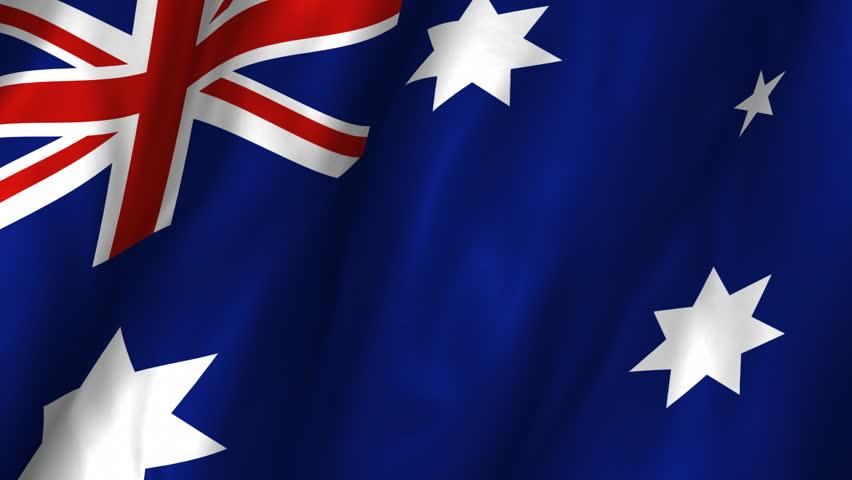 Digitally Generated Australia Flag Waving Taking Up Full Screen ...