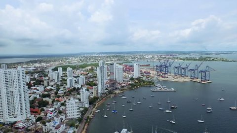 Aerial Port Cartagena Colombia