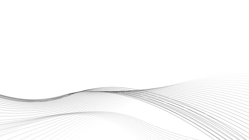 slow moving black and white curved vector lines abstract