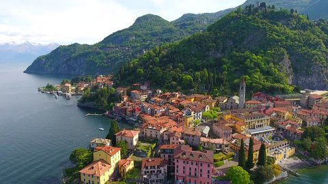 Como Lake - Little village of Varenna - Italian Typical houses