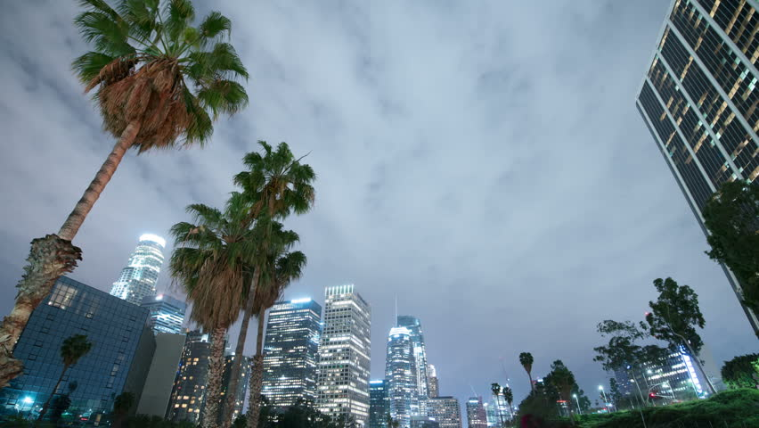 Los Angeles Downtown Skyscrapers Freeway Traffic 11 Time Lapse | Shutterstock HD Video #25885319