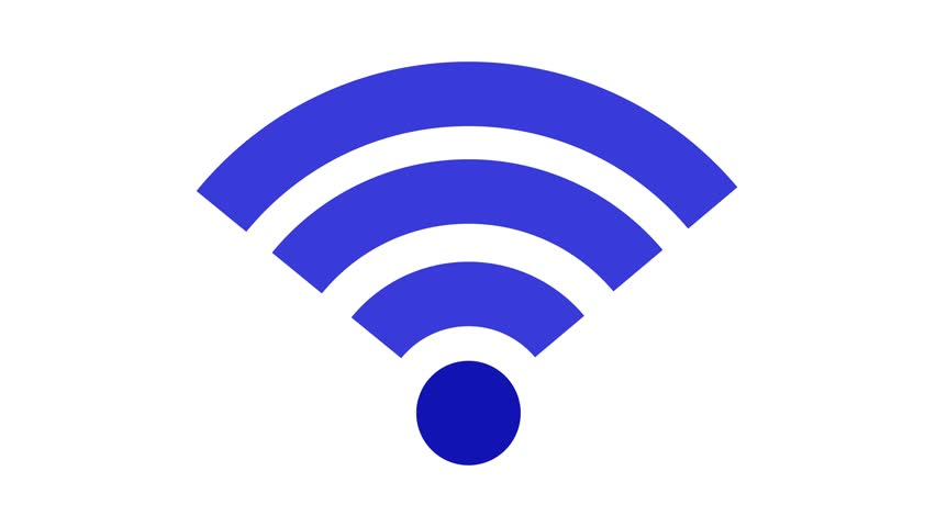 Stockvideo von wireless network icon. wi-fi symbol. animation ...