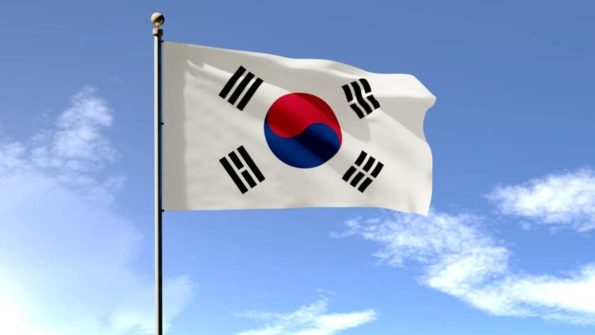 South Korean Flag Stock Footage Video | Shutterstock