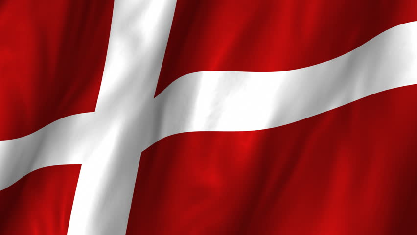 Closeup of animation waving dannebrog denmark flag with red a beautiful satin finish looping flag animation of denmark a fully digital rendering using the voltagebd Images