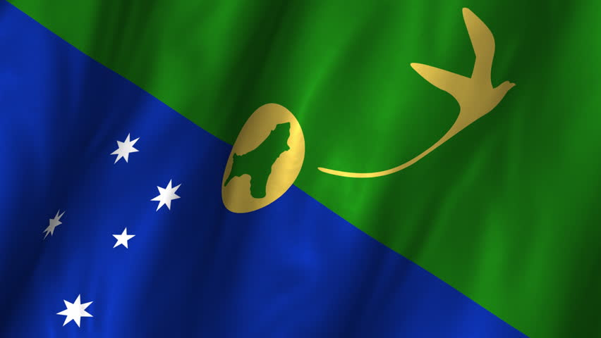 Christmas Island Flag.A Beautiful Satin Finish Looping Stock Footage Video 100 Royalty Free 2596199 Shutterstock