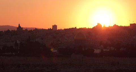The end of the day at Jerusalem old city, Israel