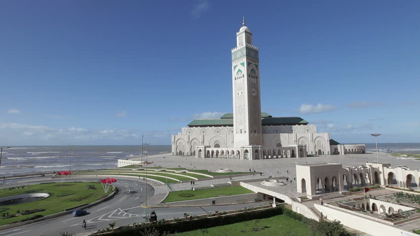 Hassan II Mosque, the third largest mosque in the world, Casablanca, Morocco