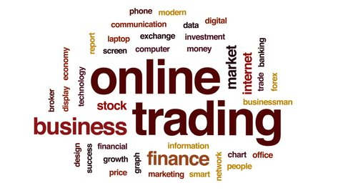 стоковое видео Online Trading Animated Word Cloud