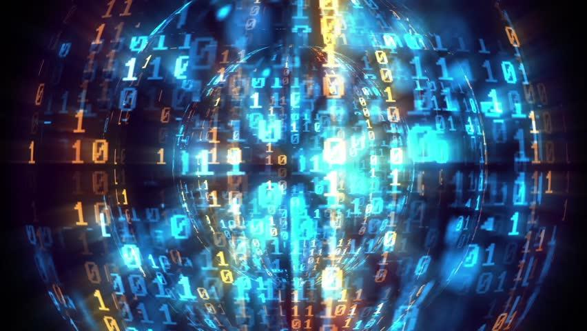 Binary Globe code tech background | Shutterstock HD Video #26129909