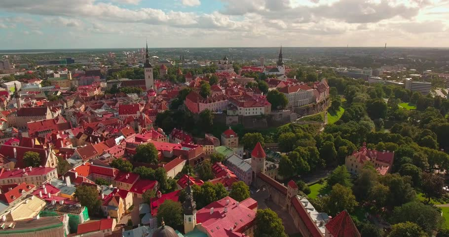 View of the old city of Tallinn, Estonia
