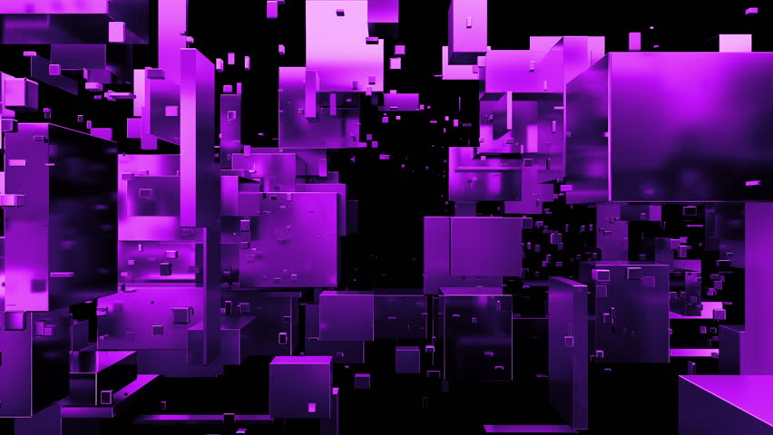 Loopabe 3d rendered sequence of moving metal cubes and rectangels. Random primitives forms on dark background. Reflective material. Abstract digital camera pass by. Technology theme. | Shutterstock HD Video #26161709