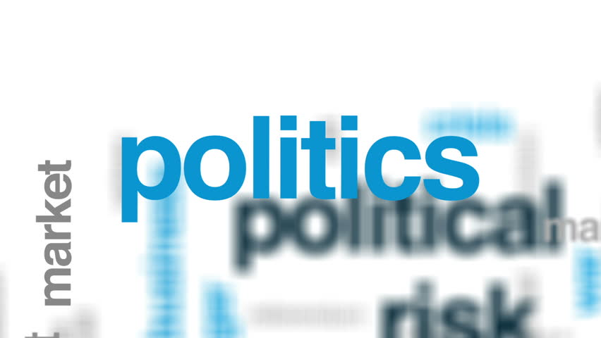 Political risk animated word cloud, text design animation. | Shutterstock HD Video #26212319