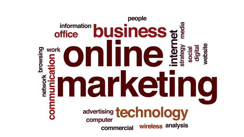 Online marketing animated word cloud, text design animation. | Shutterstock HD Video #26212328