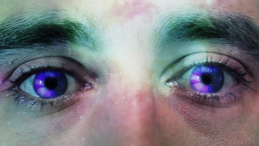 Space eyes and pupils abstract flight into space