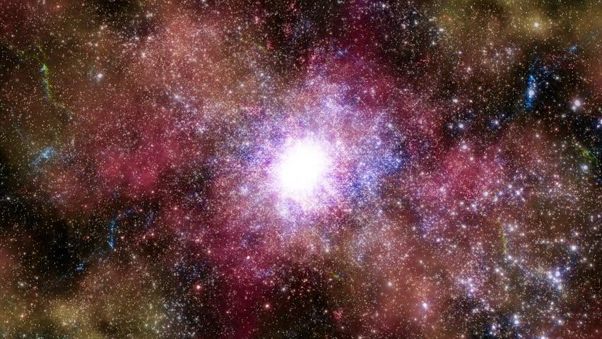 Space 2243: Traveling through star fields in deep space (Loop). #26324159