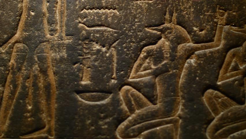 BRISTOL - April 22: Hieroglyphics in Stone - Ancient Egypt Exhibition at Bristol Museum on April 22 2017 in Bristol England.
