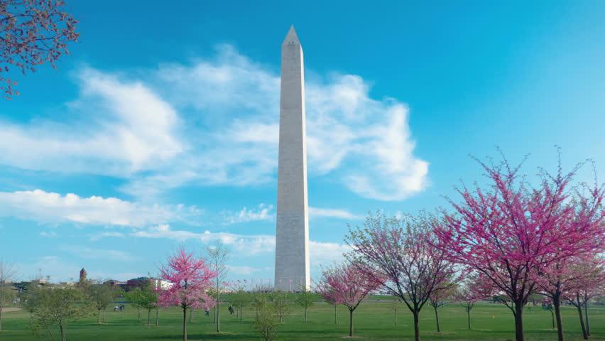 Washington Monument timelapse, Washington DC USA