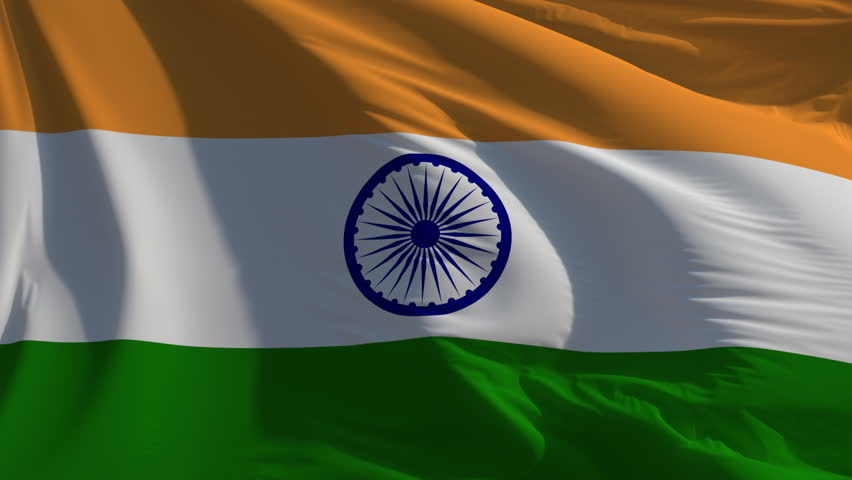 Indian Flag Animated: HD Loop Stock Footage Video