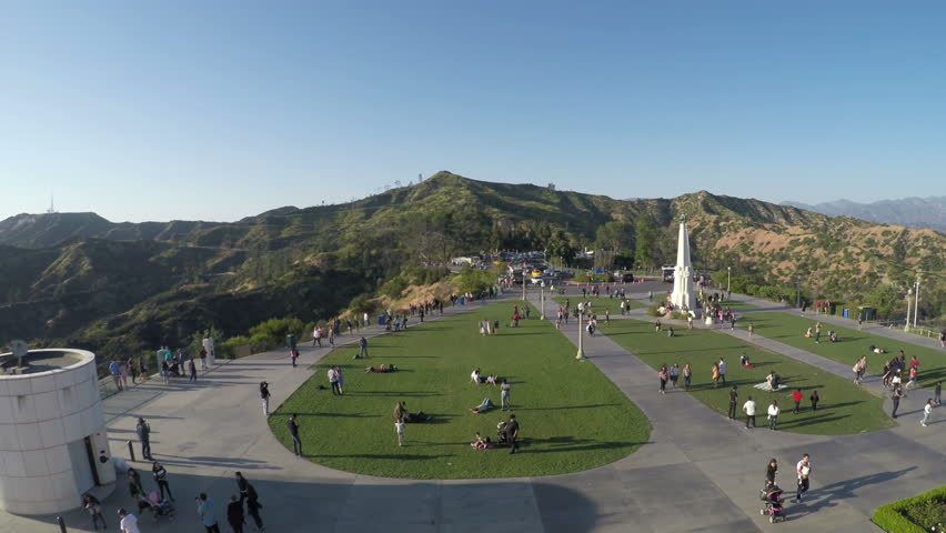 Los Angeles Landscape Hills Griffith Observatory Tourist, 4K #26449769