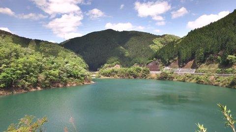 dam lake view from HIYOSHI DAM KYOTO,JAPAN