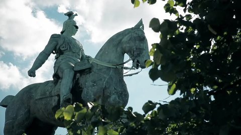 Equestrian statue of Emperor Wilhelm II, the last German emperor in Cologne, Germany