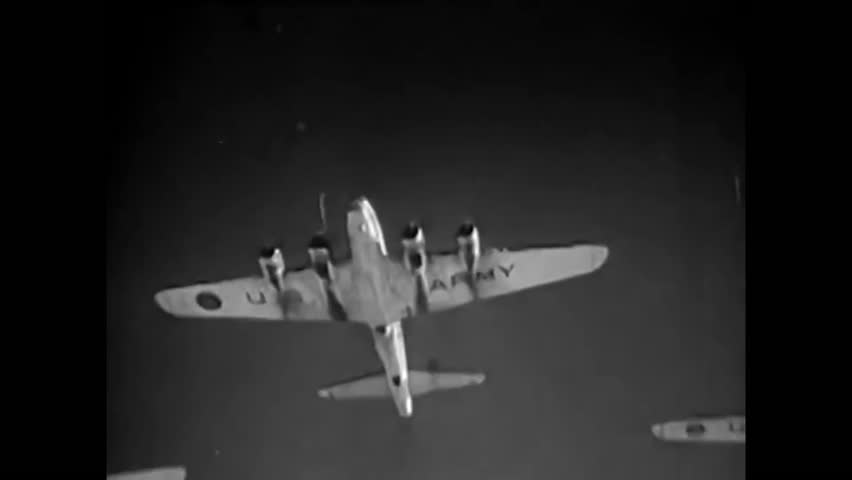 1940s: In the opening scene from a 1940s film about B-17 Airplanes, known as 'Flying Fortresses