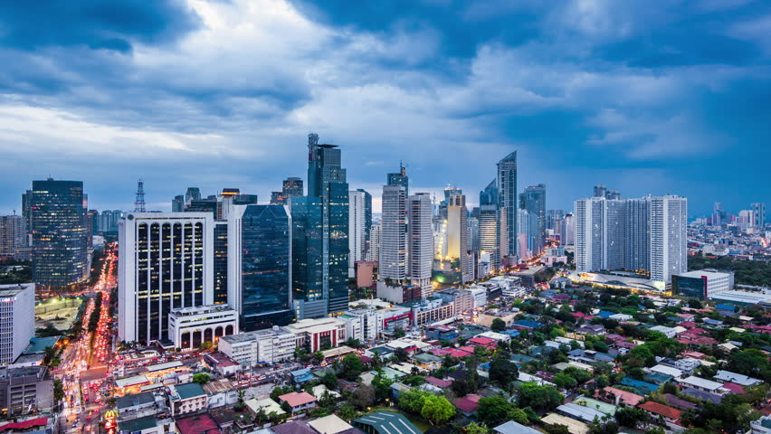 Timelapse view over makati city in metro manila philippines by manila philippines april 17 2017 dramatic sky over makati city in metro sciox Image collections
