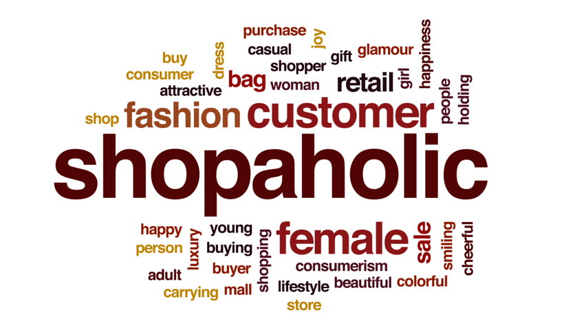 Shopaholic animated word cloud, text design animation. | Shutterstock HD Video #26520059
