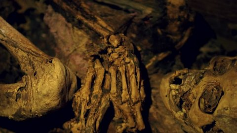 Ibaloi Fire Mummy in Kabayan, northern Luzon, Philippines. The Fire Mummies were made from as early as 2000 BC and can be found in natural caves along the mountain slopes of Kabayan.