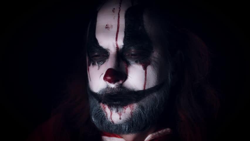 4k Halloween Horror Clown Man Laughing Evil