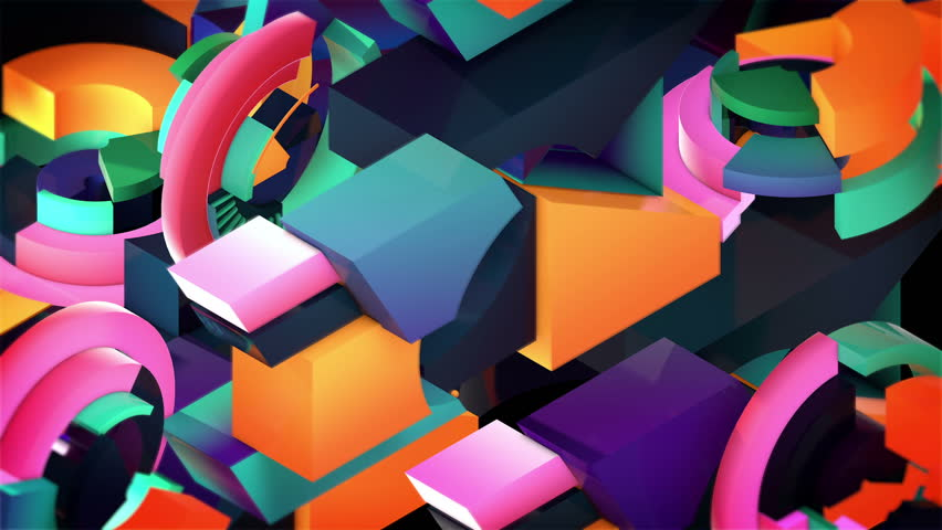 Concentric Rotating VJ Loop. A retro & vintage set of triangles and lines that dances endlessly for 6 seconds. Early 90´s style. High quality 3D render. Warm Colors. Ideal for walls and backgrounds.