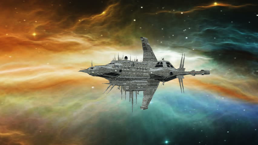 3D CG rendering of a space ship | Shutterstock HD Video #26568269