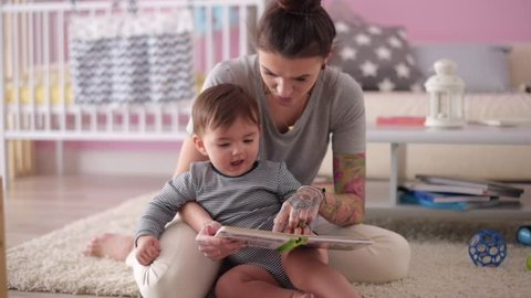 Mother already educating son since the youngest years