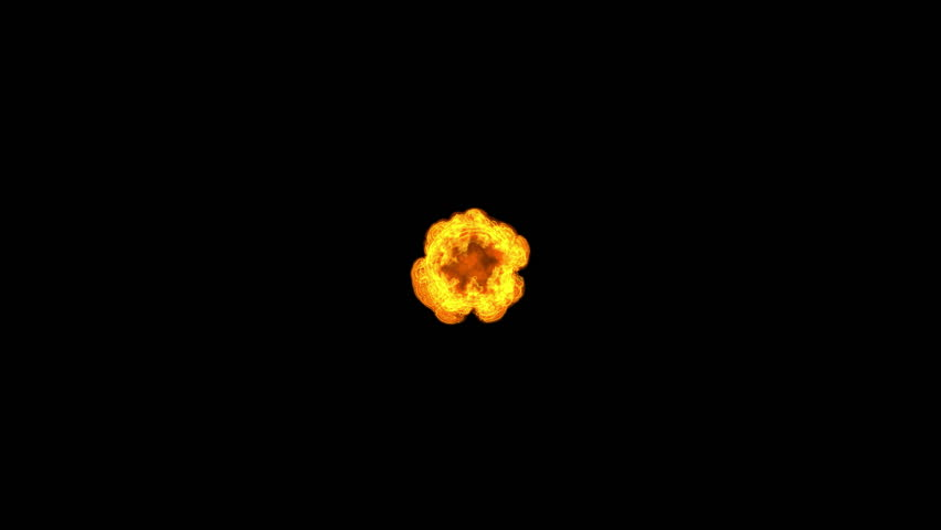 Ring of fire exploding toward the camera in 1080p with alpha