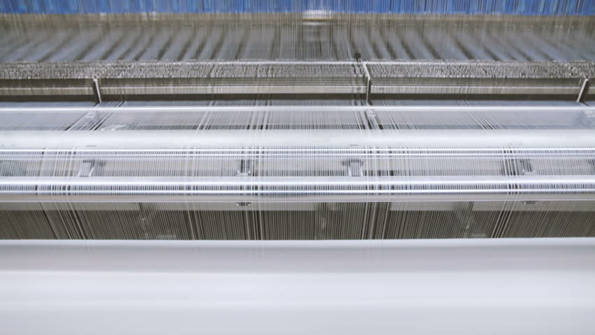 Manufacture Industrial Textiles Production Line with Automatic Weavers in a Factory | Shutterstock HD Video #26656189