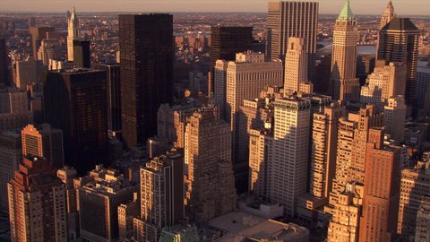 Flight from 40 Wall Street to view of the Empire State Building. Shjot in 2006.