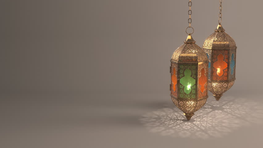Ramadan candle lantern slow speed loop animation (24 sec), Featuring such intricate patterns and cut work like an exotic treasure.