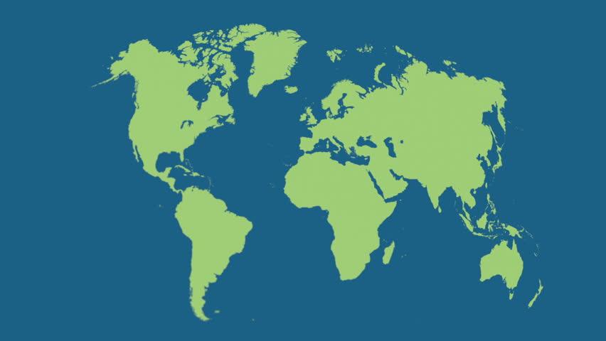 World Map Earth Satellite View K HUD Stock Motion Graphic - World map satellite view video