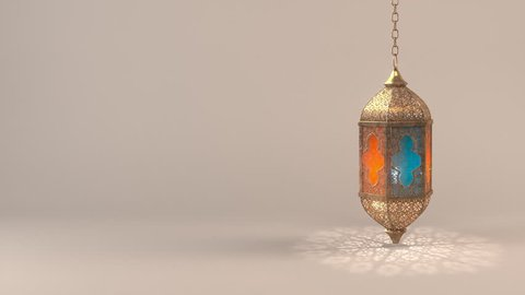 Ramadan candle lantern slow speed loop animation (24 sec), Featuring such intricate patterns and cut work like an exotic treasure. Buy it now and start using this quality video in your design.