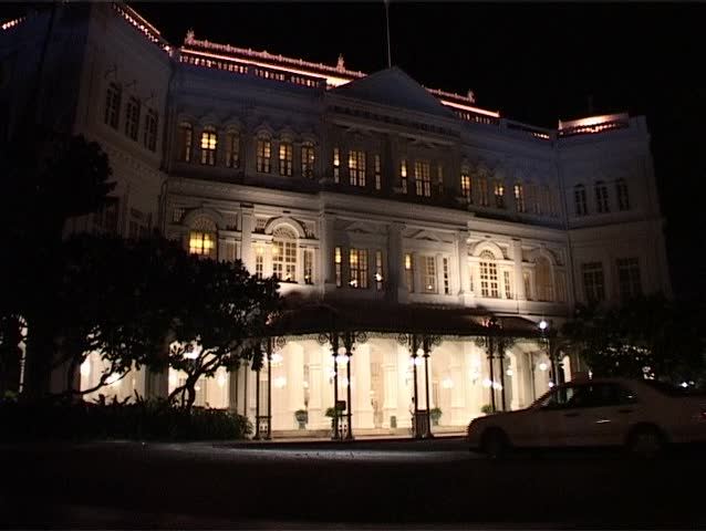 SINGAPORE - CIRCA JULY 2003 - The world famous Raffles Hotel in Singapore, which dates back to 1887 and is known for its luxurious colonial style accommodation.