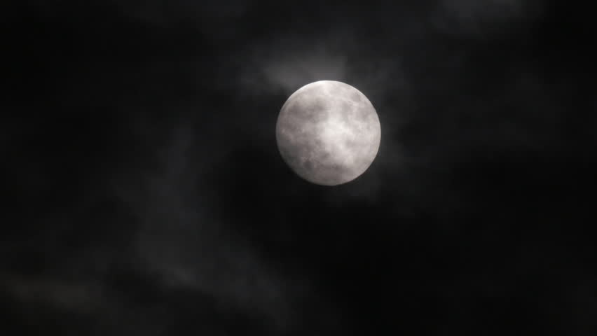 Timelapse with moon moving between clouds   Shutterstock HD Video #26752339