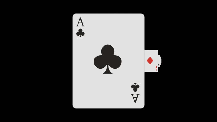 Abstract CGI motion graphics and animated background with recurring Ace playing cards